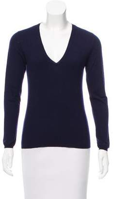 Brunello Cucinelli Cashmere V-Neck Top