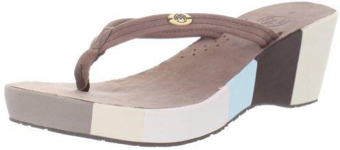 Ocean Minded by Crocs Women's OM379 Del Mar Stked Flip Sandal