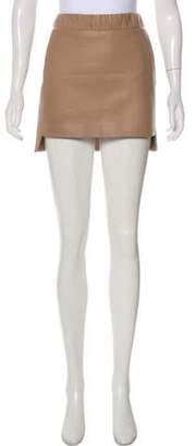 Neil Barrett Leather Mini Skirt Tan Leather Mini Skirt