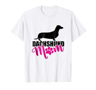 Proud Dachshund Mom Paw Print T-Shirt