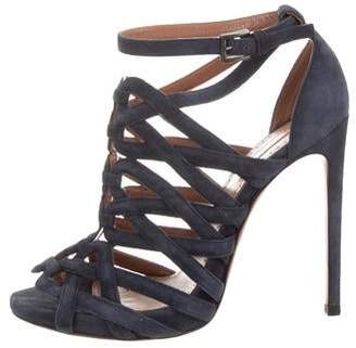 Alaia Suede Caged Sandal