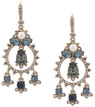 Marchesa embellished chandelier earrings