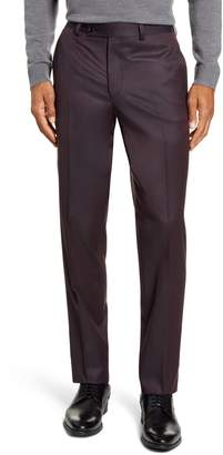 Ted Baker Jefferson Flat Front Solid Wool Dress Pants
