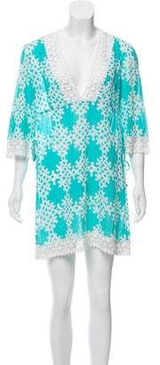Milly Lace-Trimmed Printed Dress