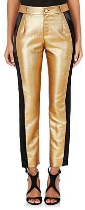 Lanvin Women's Lamé Tuxedo Trousers