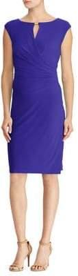 Lauren Ralph Lauren Surplice Jersey Sheath Dress