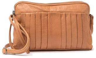 Day & Mood Petra Leather Pleated Crossbody Bag