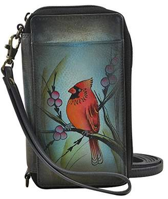 Anuschka Anna by Hand Painted Leather Smartphone Case & Wallet | Northern Cardinal