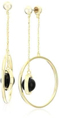 Noir Orbit Semiprecious Inertia Drop Earrings
