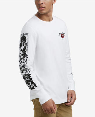 True Religion Men's Long-Sleeve Skull Graphic T-Shirt