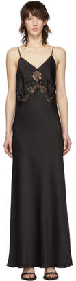 Paco Rabanne Black Satin Lace Dress