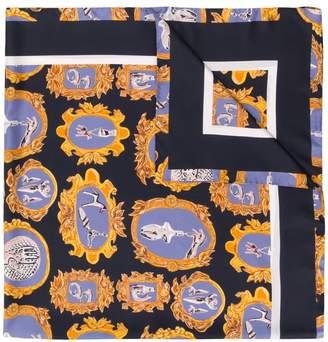 Chloé frame print scarf