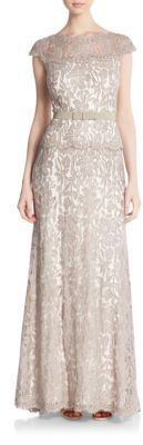 Illusion Floral Lace Gown $448 thestylecure.com
