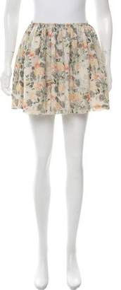 Band Of Outsiders Silk Printed Skirt