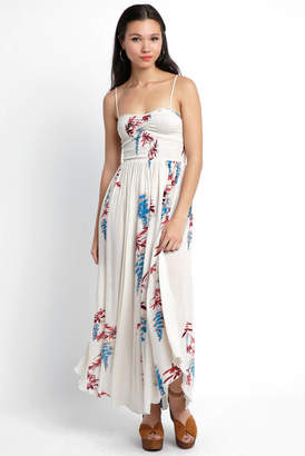 Free People Beau Smocked Printed Maxi Dress