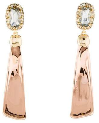Alexis Bittar Crystal Encrusted Scooped Drop Earrings