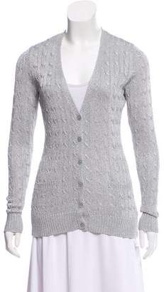 Ralph Lauren Metallic Cable Knit Cardigan