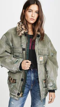 R 13 Vintage Arctic Quilt Lined Jacket