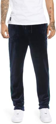 NATIVE YOUTH Slim Fit Velour Track Pants