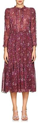 Ulla Johnson Women's Izar Floral Silk Tieneck Maxi Dress