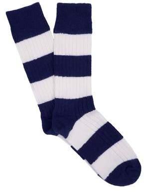 Corgi Rugby Stripe Socks in Navy