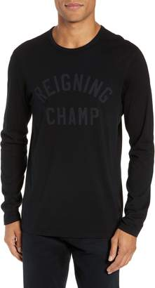 Reigning Champ Logo Long Sleeve Cotton Tee