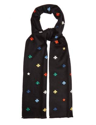 Gucci Embroidered-print scarf