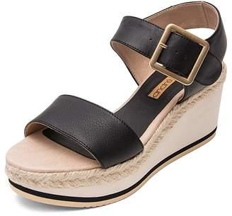 Andre Assous Women's Carmela Leather Platform Wedge Sandals