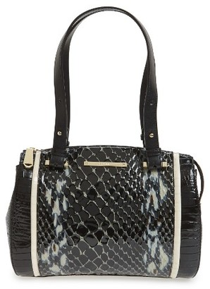 Brahmin Small Alice - Carlisle Leather Satchel - Black $345 thestylecure.com