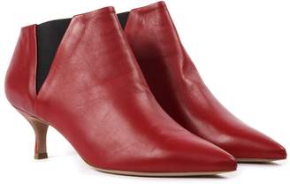 Golden Goose Red Leather Booties