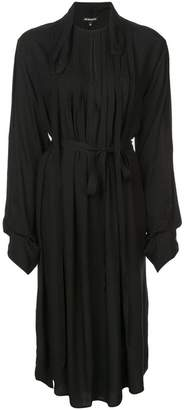 Ann Demeulemeester pleated belted dress