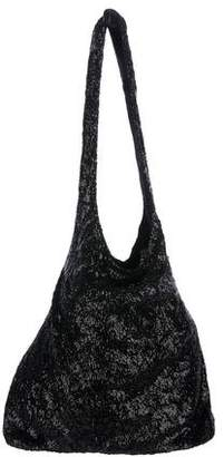 Alice + Olivia Sequin Satin-Lined Hobo