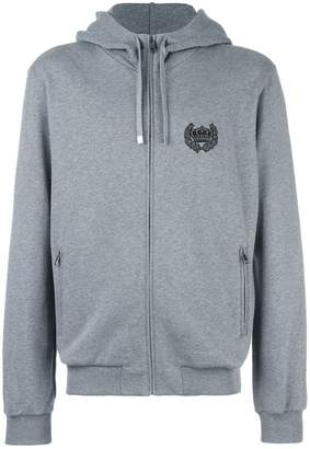Dolce & Gabbana embroidered crown zip hoodie