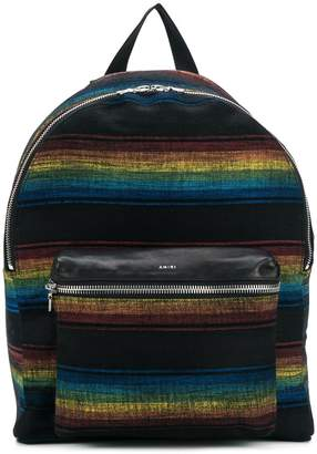 Amiri zipped striped backpack