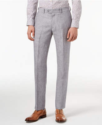 Bar III Light Gray Chambray Slim-Fit Pants, Created for Macy's