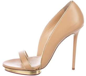 Charlotte Olympia Christine 125 Leather Sandals