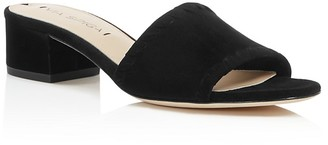 Via Spiga Gwendolyn Low Heel Slide Sandals $175 thestylecure.com