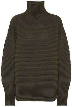 Victoria Beckham Victoria Ribbed wool turtleneck sweater