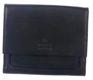 Gucci Leather Compact Wallet Black Leather Compact Wallet