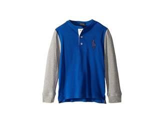 Polo Ralph Lauren Big Pony Cotton Henley Shirt (Little Kids/Big Kids)