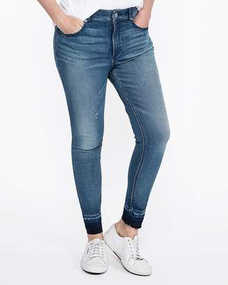 Express High Waisted Raw Hem Perfect Curves Ankle Leggings