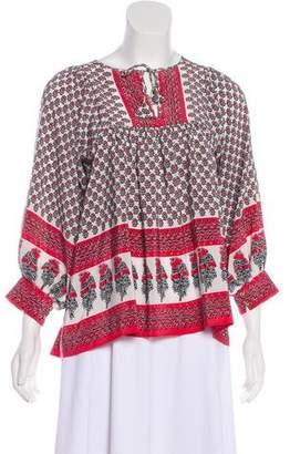 Ulla Johnson Silk Long Sleeve Top