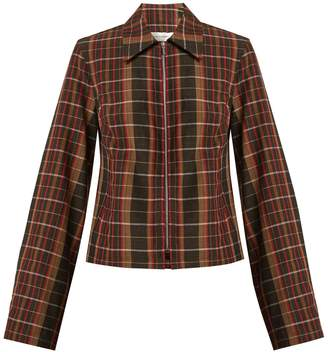 Wales Bonner Checked wool jacket