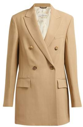 Golden Goose Extra Long Double Breasted Blazer - Womens - Beige
