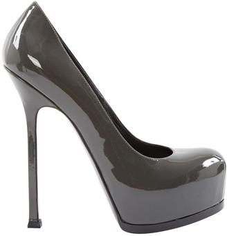 Saint Laurent Trib Too Grey Patent leather Heels