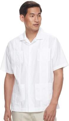 Men's Havanera Guayabera Embroidered Four-Pocket Button-Down Shirt