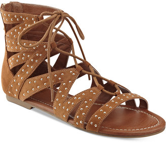 G by GUESS Leidah Lace-Up Gladiator Sandals $55 thestylecure.com