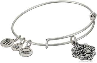 Alex and Ani Women Silver Crystal Bangle of Length 6cm A18BILY01RS