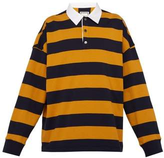 105c3f0e9a0 Wooyoungmi Striped Jersey Rugby Shirt - Mens - Navy Multi