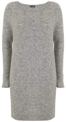 Mint Velvet Mid Grey Slouchy Knitted Dress